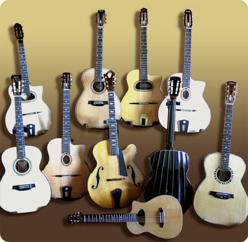 picture of some guitars